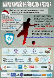 Campus navideño de Fútbol Sala y Fútbol 7 CD Salamanca Futbol Sala